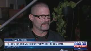 Debris problems persist 10 weeks after Irma