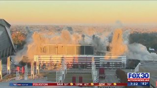 Georgia Dome imploded Monday morning