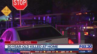 Jacksonville man shot, killed in doorway of home