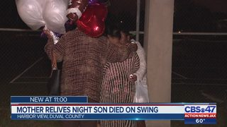 Mother talks about night son died on swing