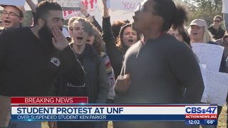 Student protest at UNF