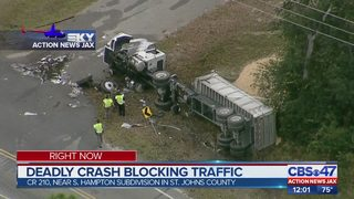 Deadly Crash Blocks Traffic