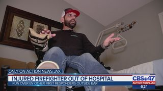 Injured firefighter out of hospital