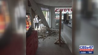 Store damaged after SUV crashed into it