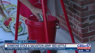 Jacksonville Salvation Army kettle stolen in broad daylight