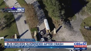 2 St. Johns bus drivers suspended for crash that sent 2 students to the hospital