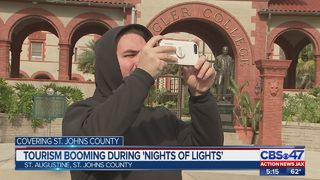 "St. Augustine tourism booming during ""Nights of Lights"""