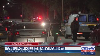 Vigil for killed baby, parents