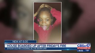 Palatka home boarded up after 8-year-old girl injured in fire