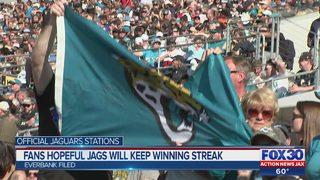 Fans hopeful Jacksonville Jaguars will keep up winning streak