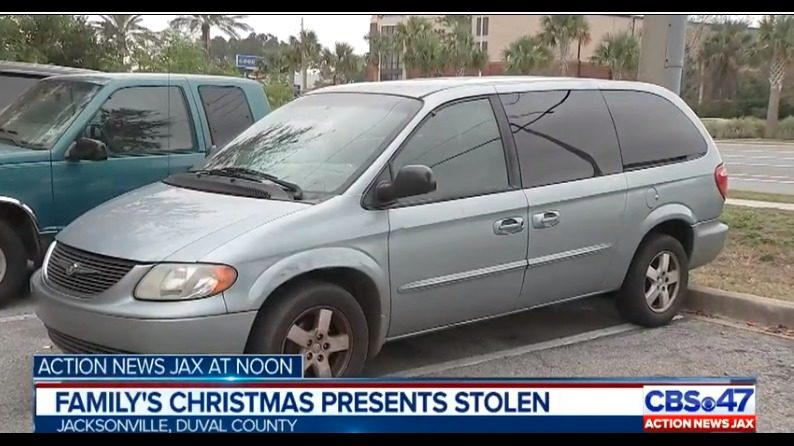 Jacksonville Family Warns Of Thieves After Christmas Gifts Van Stolen