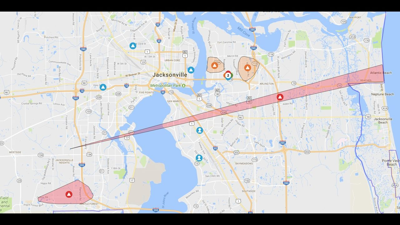 thousands without power in widespread outages in jacksonville  wjaxtv. thousands without power in widespread outages in jacksonville
