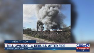 Mill owners to rebuild after fire