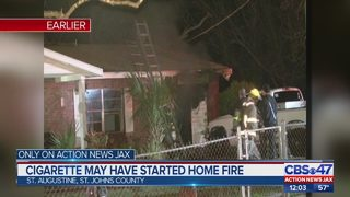 Cigarette may have started house fire