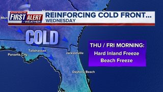 Hard freeze watch Wednesday night, early Thursday for Northeast Florida, Southeast Georgia