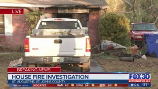 Fire marshal investigating house fire in St. Augustine