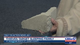 Thieves break into home with cinder block while St. Johns County family sleeps