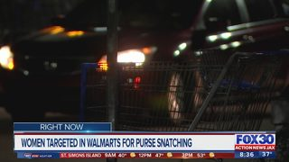 Women targeted in Walmarts for purse snatching