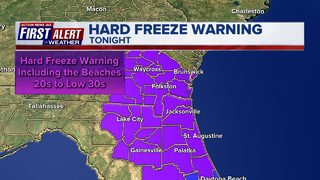 First Alert Forecast: Bitter Cold Temps, Hard Freeze Warning Tonight