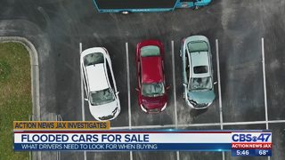 Water damaged cars are flooding local used car lots