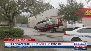 JSO: Stolen van with body inside recovered in Jacksonville