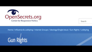 OpenSecrets.org: Gun rights and lobbying in 2017