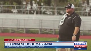 School shooting survivors remember Coach Aaron Feis