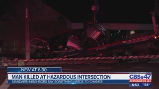 Man killed at hazardous intersection