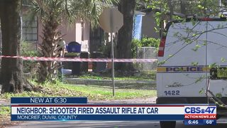 Neighbor: Shooter fired assault rifle at car