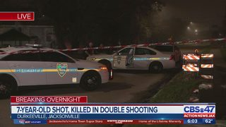 7-year-old killed in double shooting
