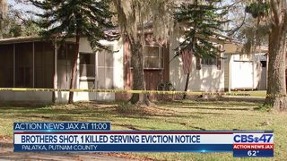 Brothers shot, 1 killed after serving eviction notice