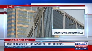 Video: JFRD rescues workers dangling from downtown building