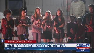 Vigil for school shooting victims
