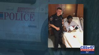 Brunswick officer hailed as hero after saving life of baby born on way to hospital