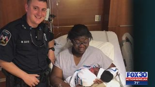 Local officer hailed as hero after baby born on bridge