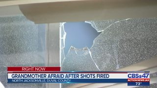 Grandmother afraid after shots fired into home
