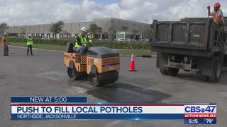 Jacksonville mayor, city crews work to fix potholes on roadways