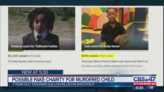 Possible fake charity for murdered child