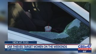 Car thieves target women on the weekends