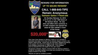 JSO: $20,000 reward offered for arrest of 7-year-old