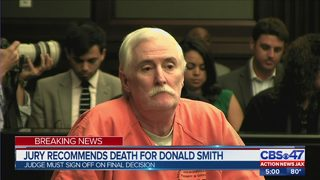 Jury recommends death for Donald Smith