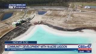 Community development with 14-acre lagoon