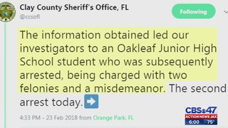 Juvenile linked to Oakleaf High School threats arrested