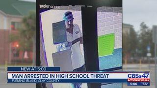 Clay deputies arrest man accused of leaving threatening note on high school door