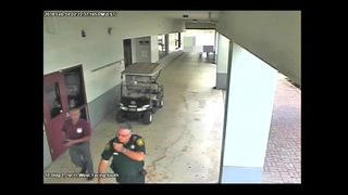 WATCH: Surveillance video reveals actions of Broward deputy during Parkland shooting
