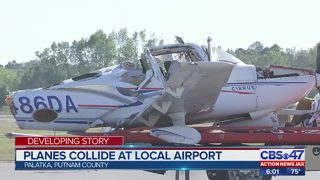 Plane collides at local airport