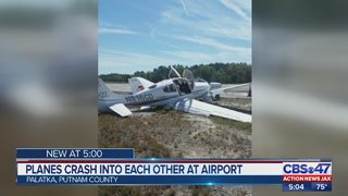 Planes crash into each other at airport