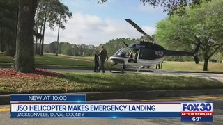 JSO helicopter makes emergency landing on golf course