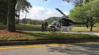 Raw video: JSO helicopter makes emergency landing