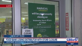 Food bank losing distributor with store closure